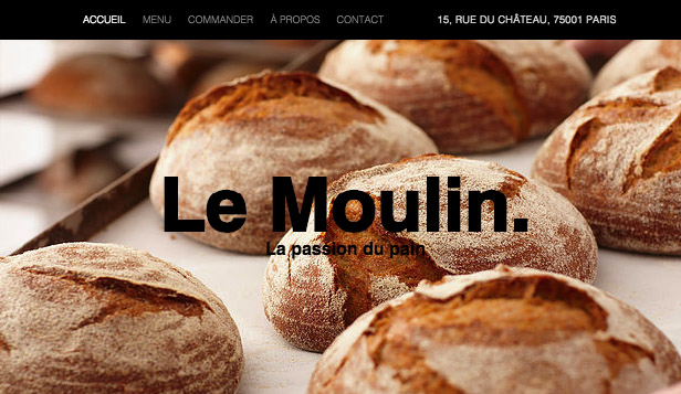 Cafés et Boulangeries website templates – Boulanger