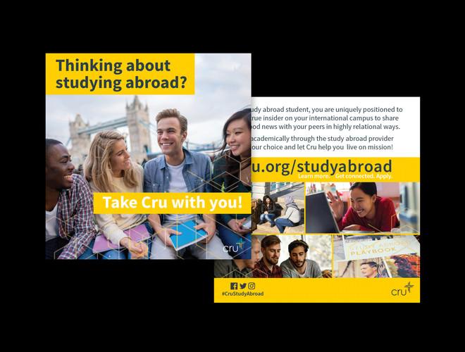 Cru Study Abroad Card and PDF