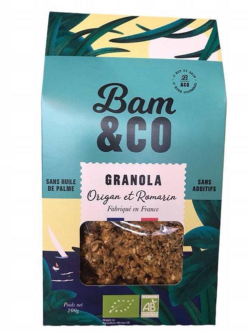 Granola Origan et Romarin - Bam&Co