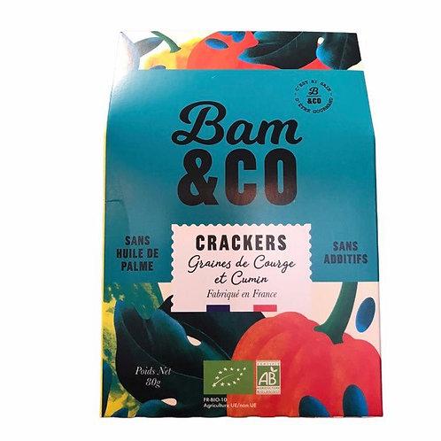 Crackers Graines de courge et cumin - Bam&Co