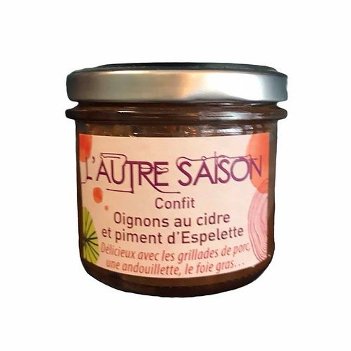 Confit Oignons au cidre et piment d'Espelette - L'Autre Saison