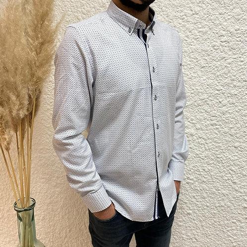 Chemise blanche à motif marine