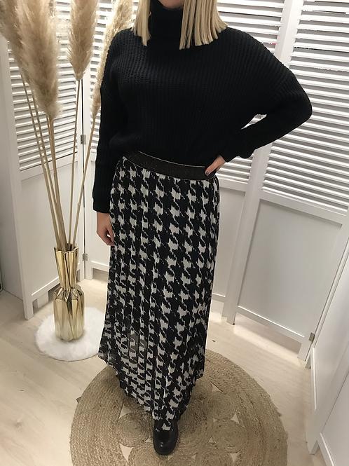 Longue jupe noire & blanche