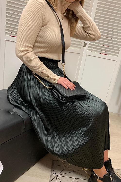Jupe plissée  simili cuir