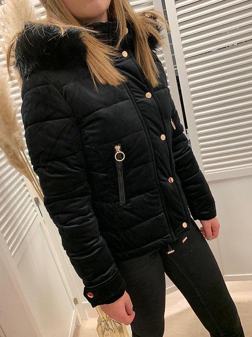 Manteau matelassé velours