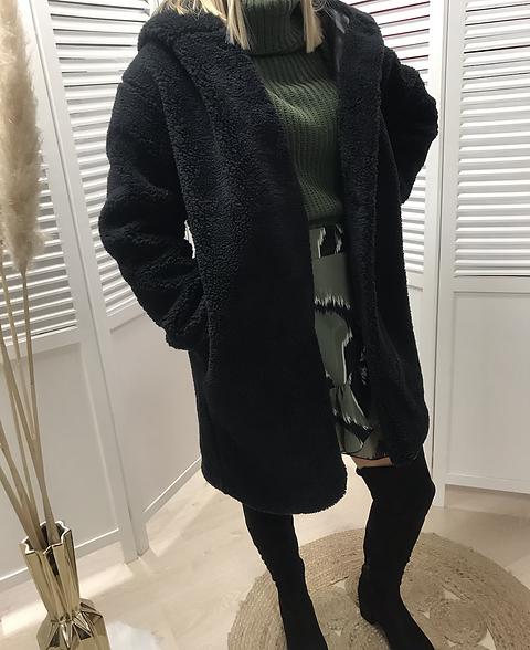 Manteau moumoute noir