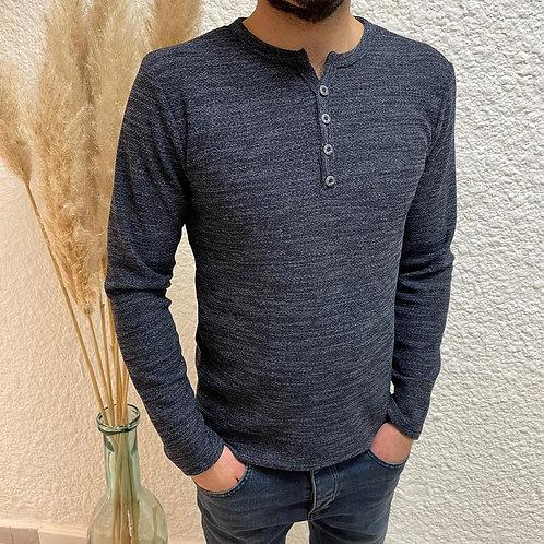 Tshirt bleu chiné MAO
