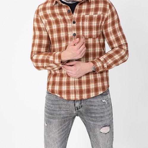 Chemise décontractée à carreaux
