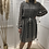 Thumbnail: Robe chic ceinturée motif pied de poule
