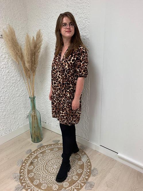 Robe fluide léopard
