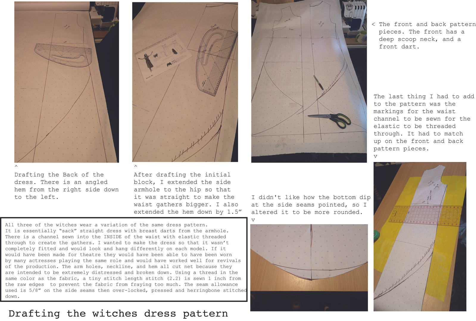 Witches Dress Pattern Drafting