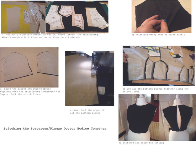 Stitching the Bodice Together