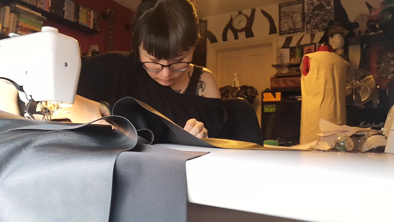 Sewing a Witches Leather Skirt
