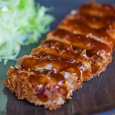 Japanese fried pork cutlet ( Tonkatsu )