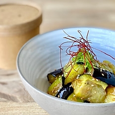 Fried eggplant with miso sauce