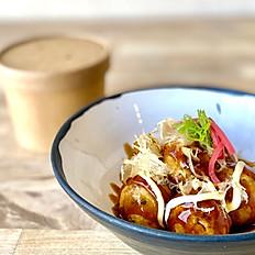 Fried octopus balls (Takoyaki)