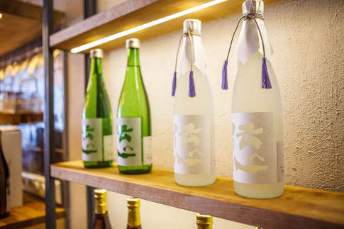 Various kinds of Japanese sake