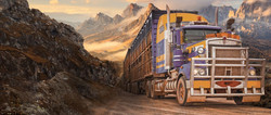 Sour Deisel represented by semi truck in Eastern Washington