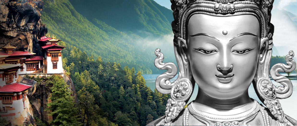 white tara marijuana strain from Washington marijuana supplier represented by Buddha and mountainsid