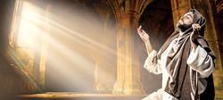 Jesus OG cannabis from Washington marijuana supplier represented by Jesus praying