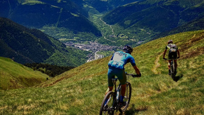 Ruta de alta montaña en bicicleta