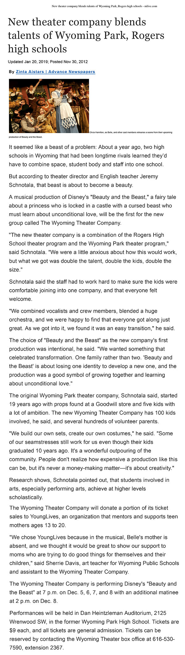 New theater company blends talents of Wy