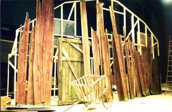 old barn wood bldg animal farm