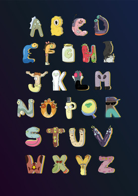 Rick and Morty typeface