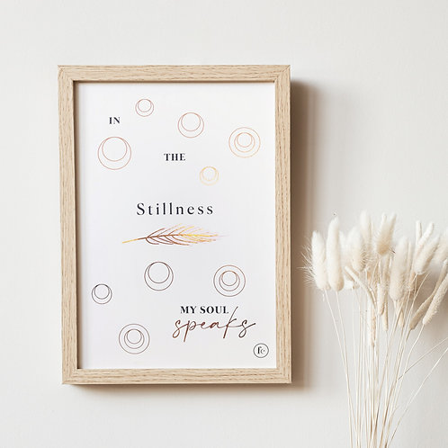 Stillness Meditation Print