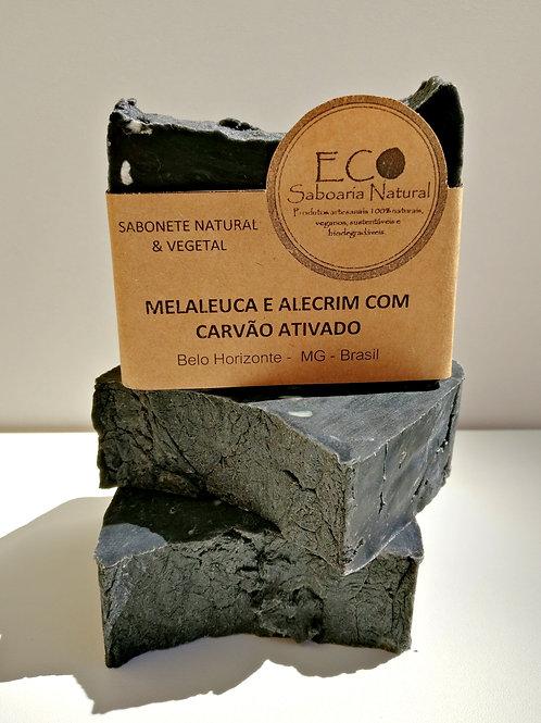 SABONETE DE MELALEUCA E ALECRIM COM CARVÃO ATIVADO - 125G