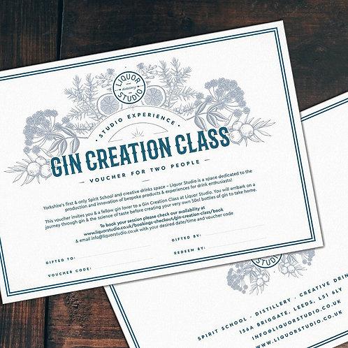 Gin Creation Class for 2 - Gift Voucher