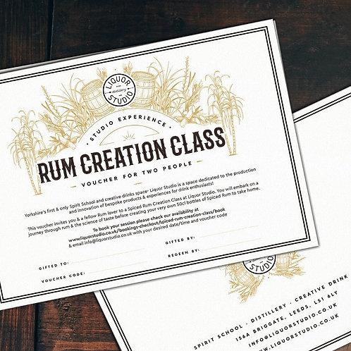 Spiced Rum Creation Class for 2 - Gift Voucher