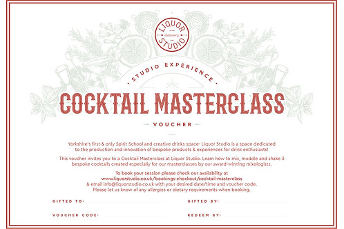 Cocktail Masterclass - Gift Voucher