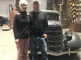 Scott and Pam are the proud new owners of the 1935 Ford!