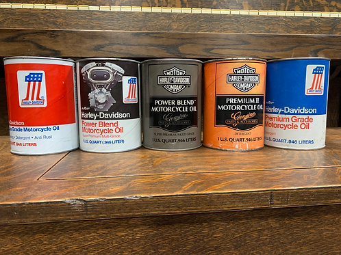 Set of 5 HD Oil Cans/Full