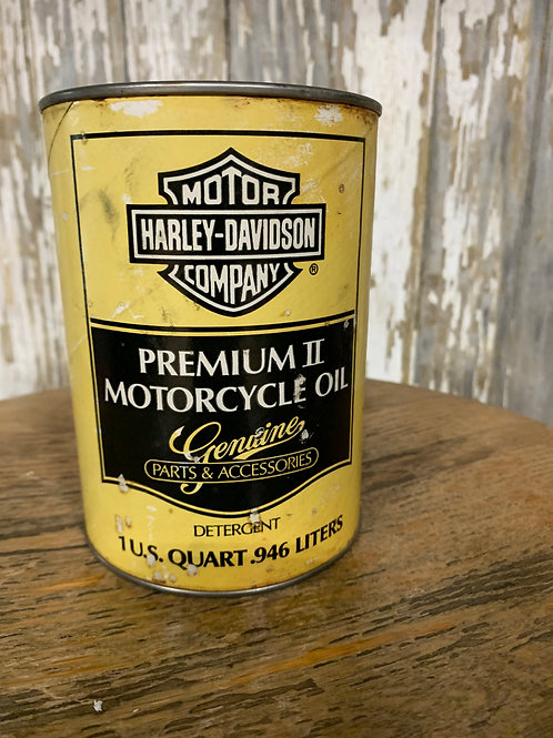 HD Premium II Motorcycle Oil Can/Full