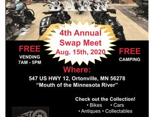 Please Join Us for our 4th Annual Swap Meet Saturday, August 15th...