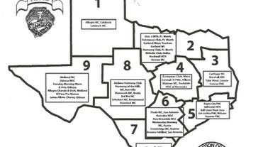 Texas Club Map