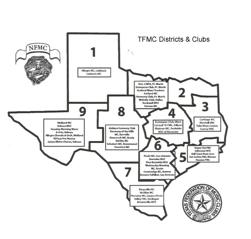 Texas Club Map
