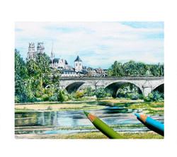 Belle vue sur Orléans