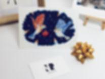 Carte postale oisaux nr dessin Nathalie Ravier Noël