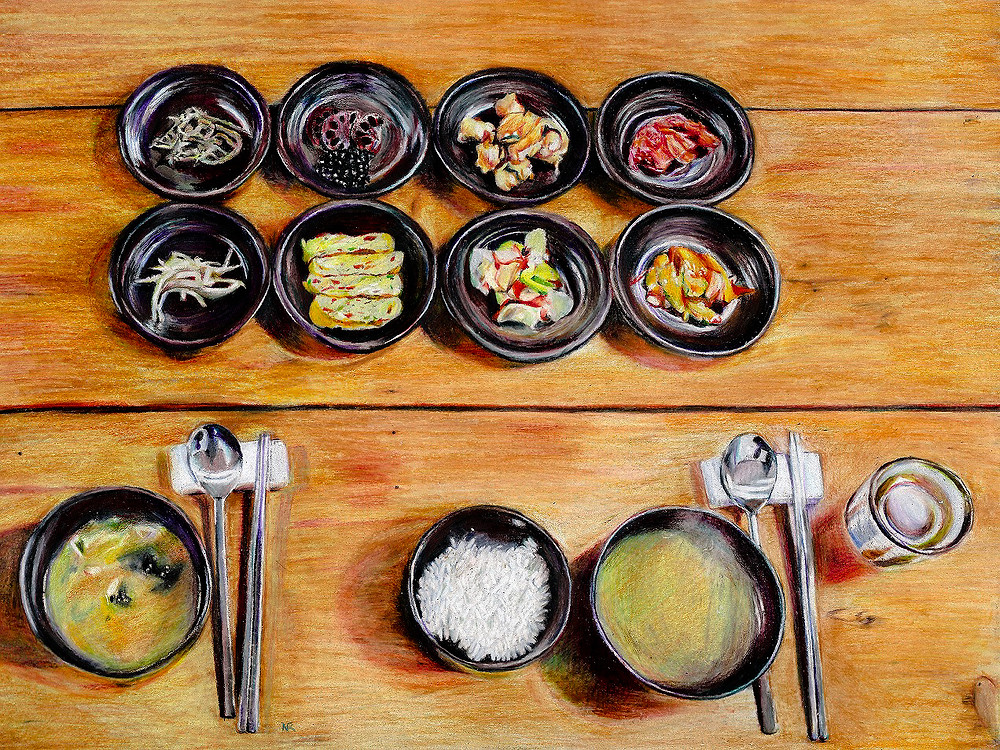 Repas traditionnel coréen | Nathalie Ravier | 2017