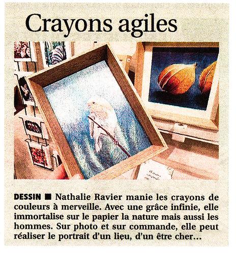 Nathalie Ravier République du Centre Journal idée cadeau commande personnalisée