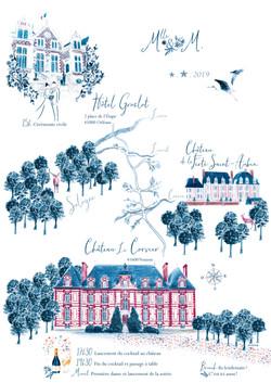 Carte illustrée pour le Jour-J