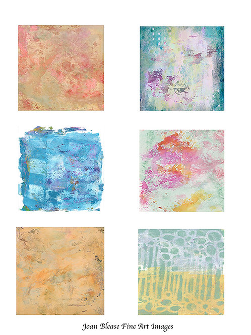 # 5 HAND PAINTED BACKGROUNDS FOR ART/SCRAPBOOK JOURNALS &MIXED MEDIA PROJECTS