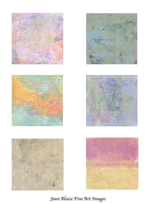 # 4 HAND PAINTED BACKGROUNDS FOR ART/SCRAPBOOK JOURNALS & MIXED MEDIA PROJECTS