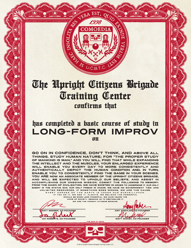 UCB Training Center Diploma