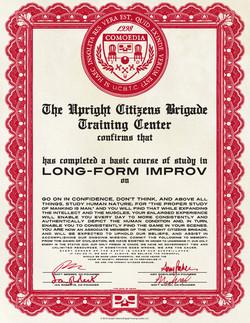 UCB Training Center Diploma