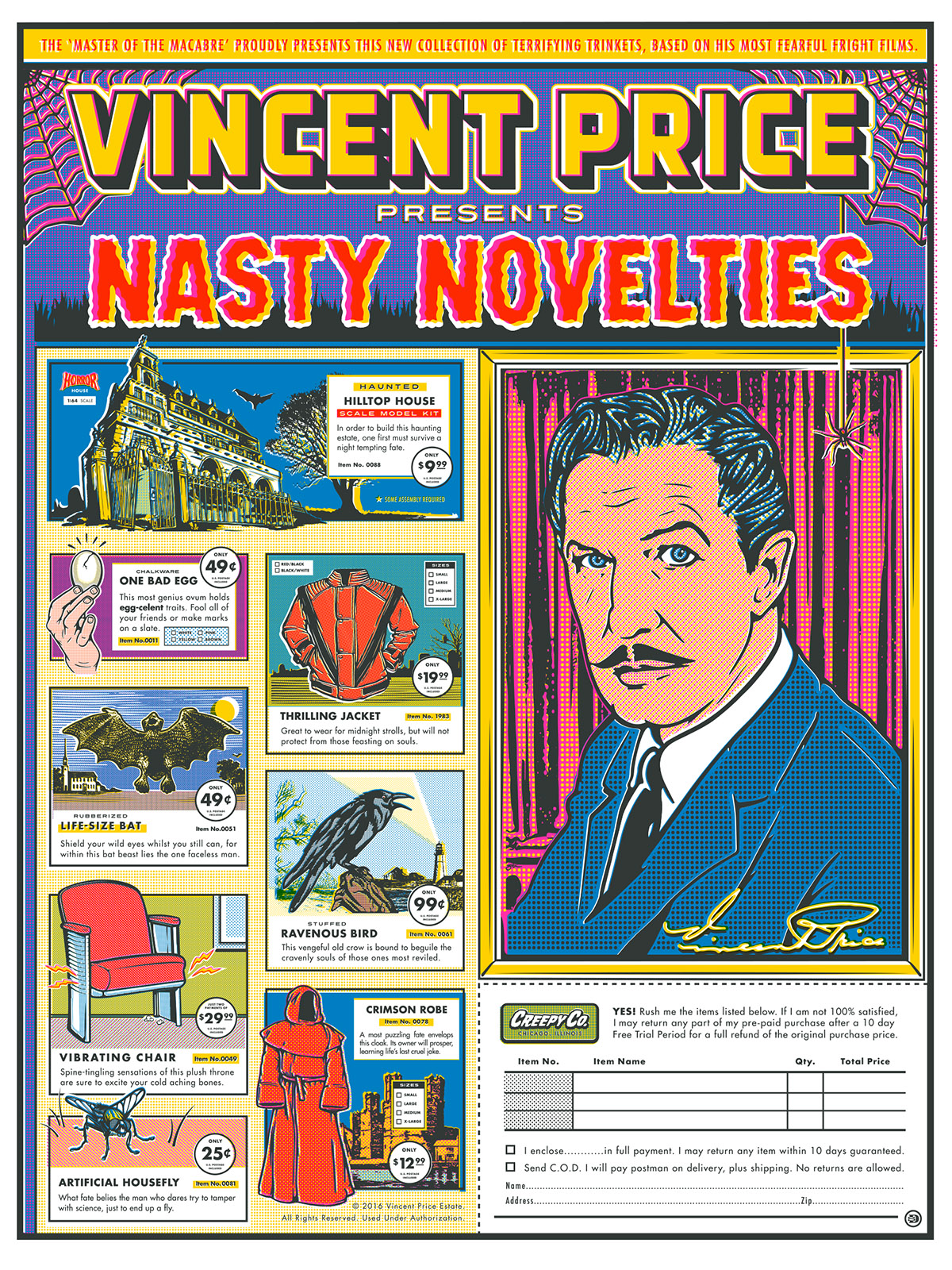 Vincent Price Nasty Novelties