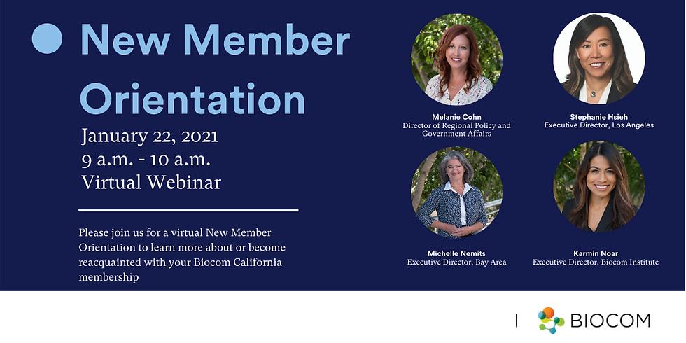 Biocom California New Member Orientation